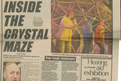 Bristol Crystal Maze plans; Bristol Evening Post